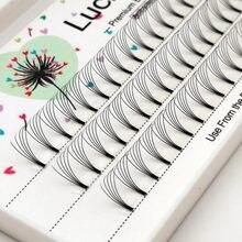 Sorte lash volume 2d/3d/4d/5d cílios 0.10 c/d onda haste curta, fãs pré-fabricados seda falso vison individual falso cils
