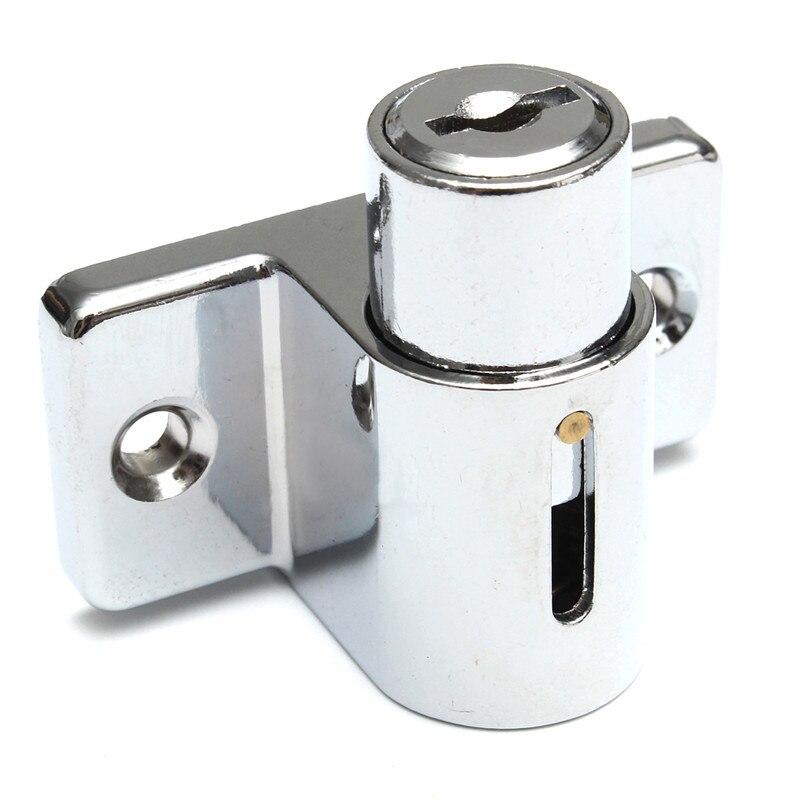 Aluminum Sliding Patio Door Window Bolt Locking Catch Push Lock