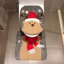 Набор из 2 предметов, необычный снеговик, крышка для унитаза и ковер, набор для ванной комнаты, Рождественское украшение, аксессуары для ванной комнаты, набор, покрытие для унитаза, коврик