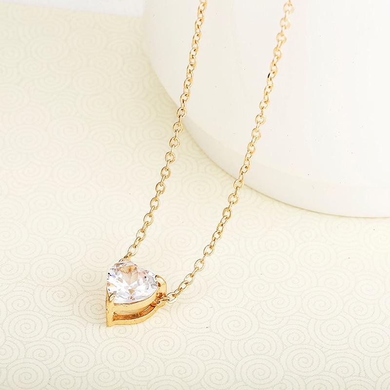 2019 Crystal Pendant Neklace For Women Golden Color Simple Short