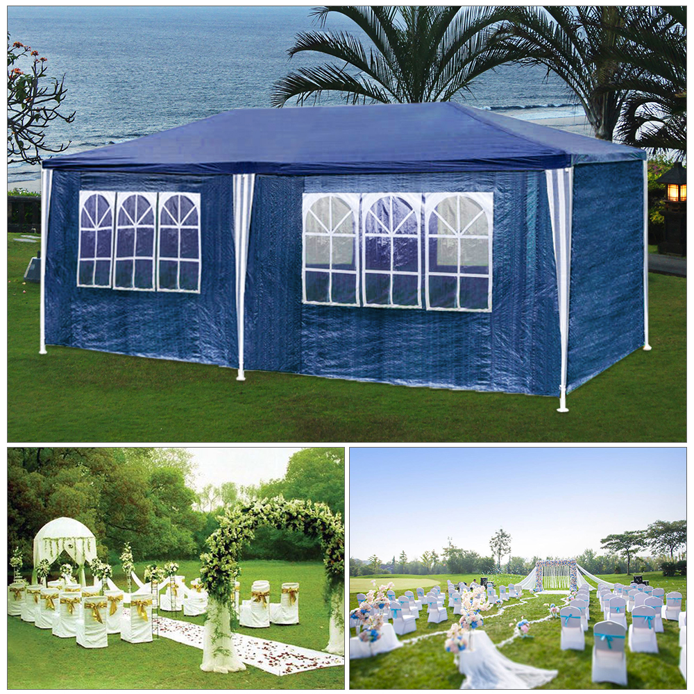 Waterproof Gazebo With Sides Walls Windows 3x3M 3x4M Awning Patio Sun Shade 120G