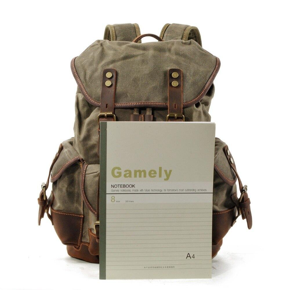 Haute qualité en cuir véritable grand sac à dos hommes pochette d'ordinateur sac à dos noir/café décontracté affaires en cuir sac à dos hommes # MD J7335 - 5