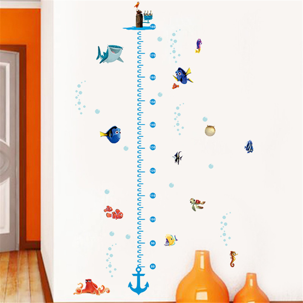 Diy growth chart height measure wall sticker home decal finding diy growth chart height measure wall sticker home decal finding nemo cartoon sea fish underwater world kids room nursery decor in wall stickers from home amipublicfo Gallery