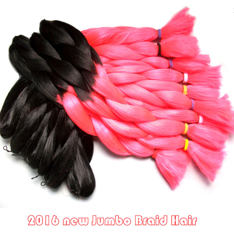Wholesale Amaze Bright Pink Ombre African Box Hair Braiding