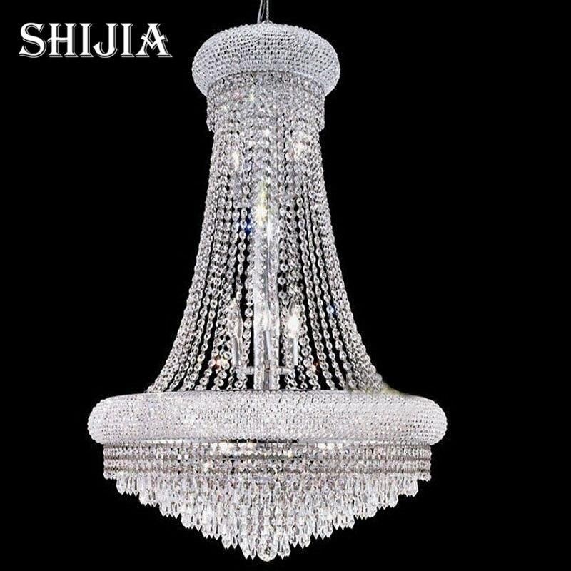 D100CM Modern Led Spiral Lustre Large Crystal Chandelier Light Fixtures Long Stair Light For Staircase Hotel