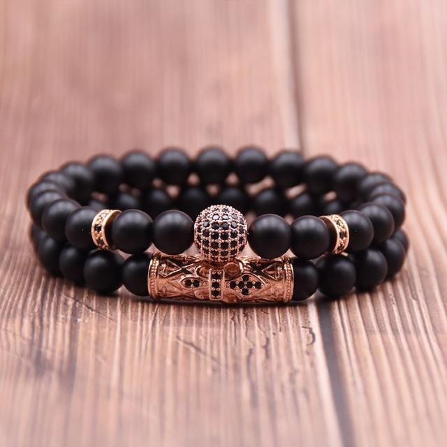 Sphere Diamante Bead Bracelets