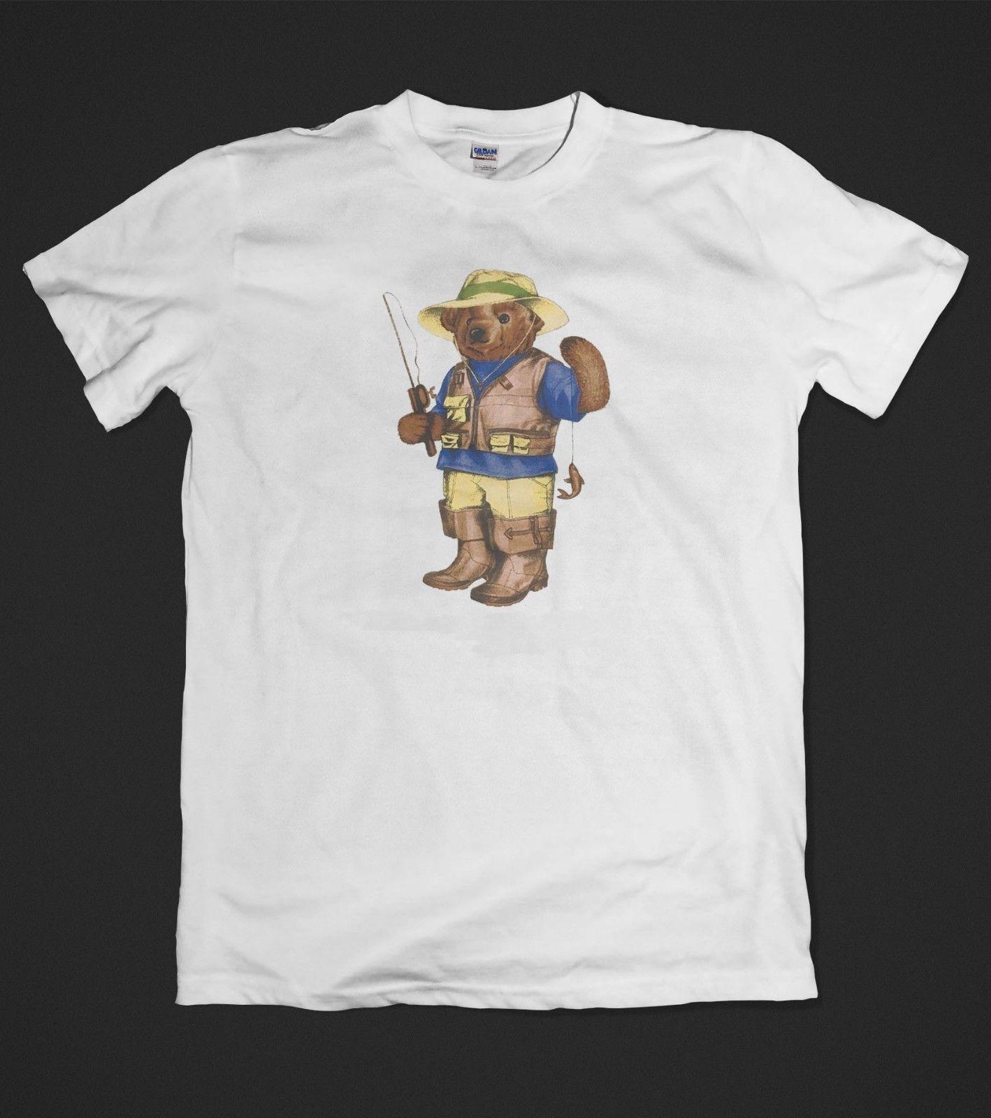 New  T-Shirt Bear Logo Fishing Cotton Short Sleeve S to XXL  Cartoon t shirt men Unisex New Fashion tshirt Футболка