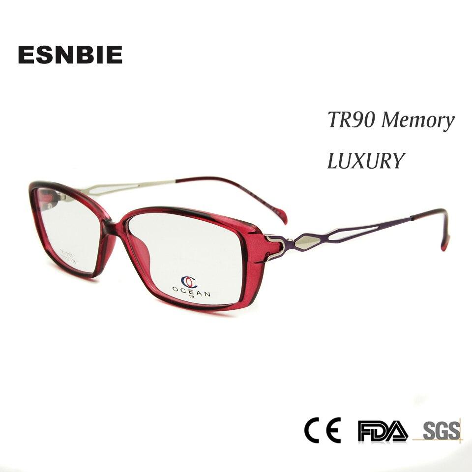 Oculos de grau feminino eyewear frames women tr90 plastic memory women's eyeglasses frame luxury myopia female