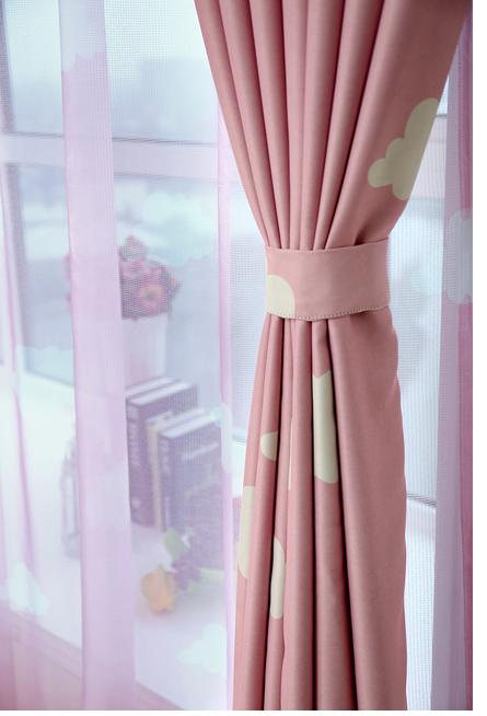 Aliexpress.com : Buy Blue Pink window curtains set for living room ...