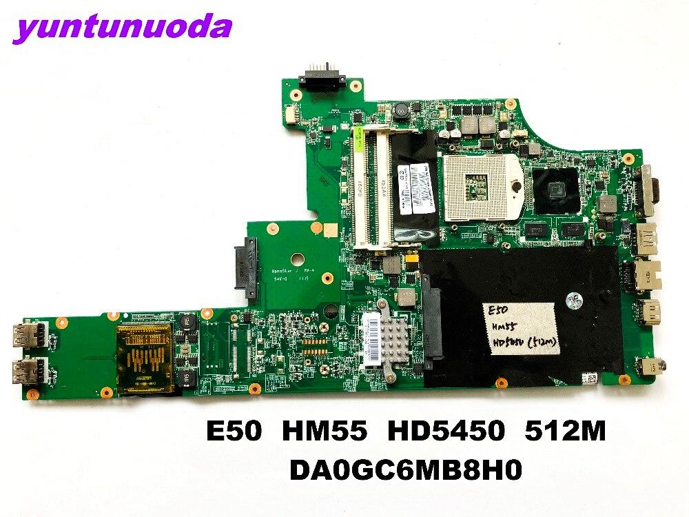 Original for Lenovo E50 laptop motherboard E50 HM55 HD5450 512M DA0GC6MB8H0 tested good free shipping