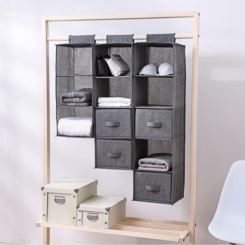 Interlayer Drawer Type Wardrobe Hanging Storage Bag Organizer Debris  Box Hanger