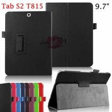 Tab S2 SM-T810 T815 case cover, Ultra Slim case для Samsung galaxy Tab S2 9.7 Tablet Откидная Крышка Личи Шаблон