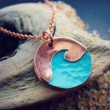 SanLan 1 шт. Лето Голубая волна ожерелье океан пляж ювелирные изделия