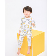 Купить с кэшбэком Kids pajamas children sleepwear baby pajamas sets boys girls animal pyjamas cotton nightwear cartoon car Home clothes sleepwear