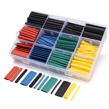 530pcs Heat Shrink Tubing Insulation Shrinkable Tube Assortment Electronic Polyolefin Ratio 2:1 Wrap Wire Cable Sleeve Tubes Kit 12mm dia polyolefin heat shrinkable tube shrink tubing wire wrap 10m 33ft green