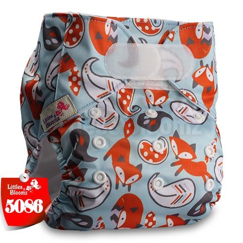 [Littles&Bloomz] Один размер многоразовые тканевые подгузники Моющиеся Водонепроницаемые Детские карманные подгузники стандартная застежка на липучке - Цвет: 5086