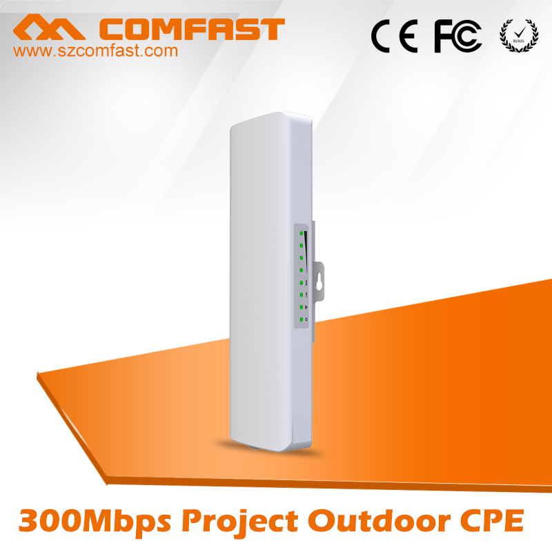 COMFAST 300Mbps 5.8Ghz outdoor WIFI receiver with 2*14dBi WI-FI Antenna high power wifi repeater CF-E312A wireless bridge CPE