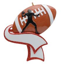 Free Customization-Personalized Football Ornament for Christmas Tree Decor Gifts  Player Athlete Amateur