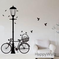 Street Lamp Bike Wall Sticker Bike Lamp Wall Decal DIY Decorating Modern Vinyl Wall Street Lamp
