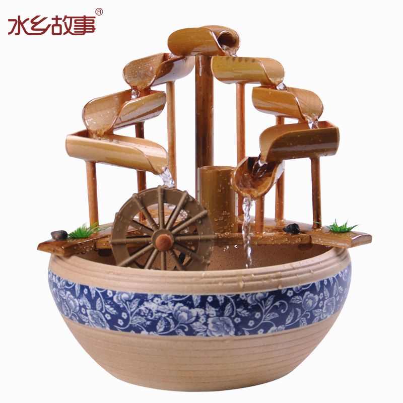 Online buy wholesale fountain bamboo from china fountain for Bamboo water feature