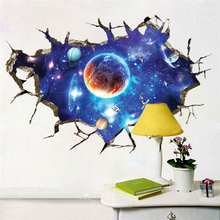 60*90cm NEW Creative 3D Starry sky universe DIY Wall Sticker Home Decor Decals Mural ceiling Art Wall TV Wall Paper Poster gift blue sky 3d mordern wallpapers floor sticker removable mural decals vinyl art star sky ground ceiling stickers decal home decor