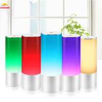 Oobest 3D Multi Color Changing Lava Lamp RGB LED Glitter Party Mood Night Light Christmas Gift