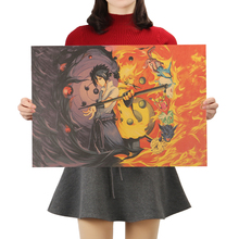 Anime Naruto Poster Classic Kraft Paper Poster Wall Stickers Decor