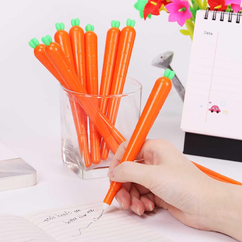 Креативные милые черные нейтральные ручки, канцелярские товары, корейские персонализированные гелевые студенческие ручки, ручка для морковки и воды