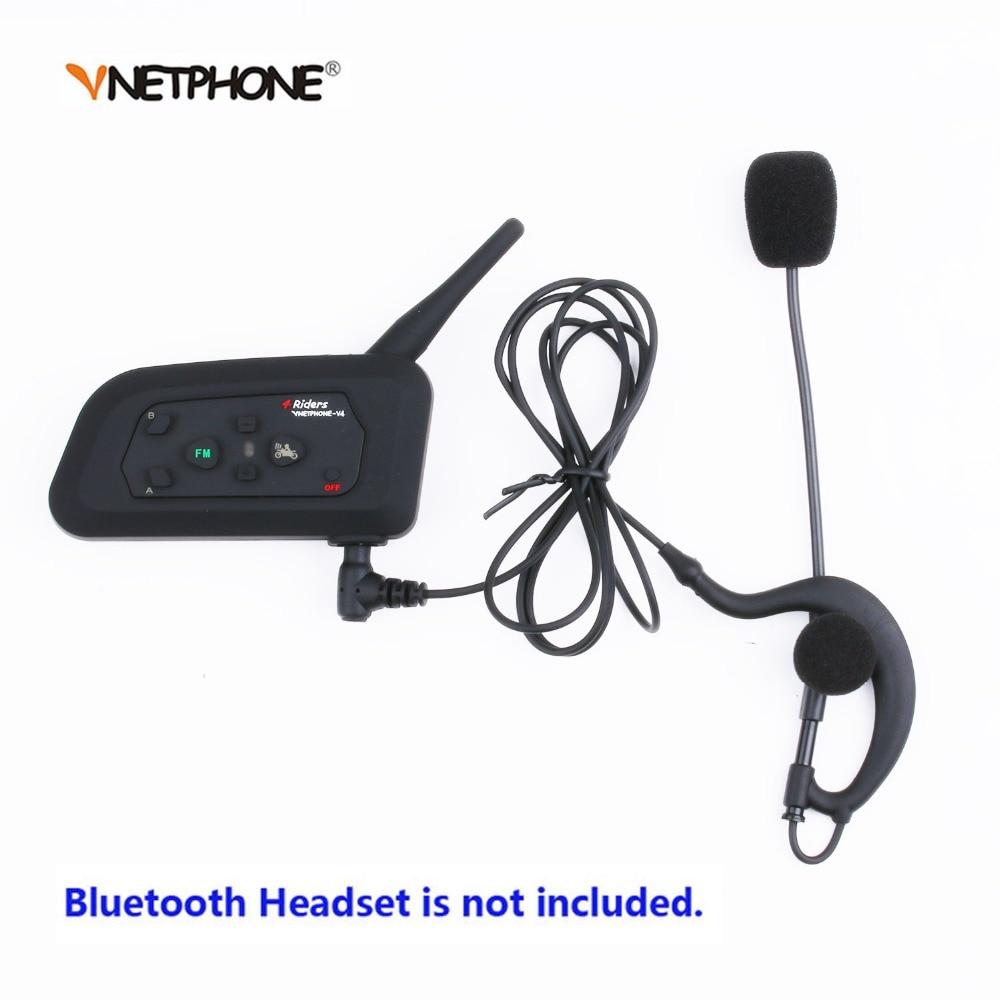 цены Motorcycle Bluetooth Helme Interphone 3.5mm jack Headset Microphone Mic For Vnetphone V6 V4 FBIM V2-500C Bluetooth Intercom