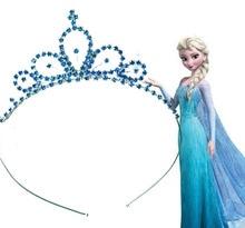 Elsa Couronne De Noël Cadeaux Pour Filles Princesse Anna Couronne Filles Cheveux Accessoires Enfants Tiara Cosplay Comme Célébration D'anniversaire Cadeaux