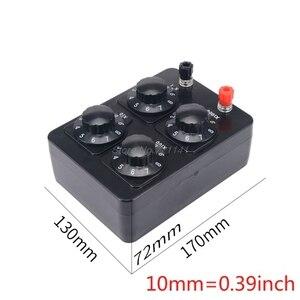 Image 1 - Caja de resistencia sencilla de 0 a 9999 Ohm, herramienta de instrumento de enseñanza de resistencia de precisión Variable de década, MAR20