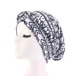 Image 4 - נשים כובע סרטן כימותרפיה כובע אתני מודפס מוסלמיים כפה צמת ראש טורבן צעיף כיסוי שיער אובדן ערבי מצנפת אופנה