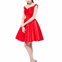 Prom-Dress ANGELSBRIDEP Sweetheart-Neckline Evening-Gown Chiffon Formal Red Long Vestidos-De-Fiesta