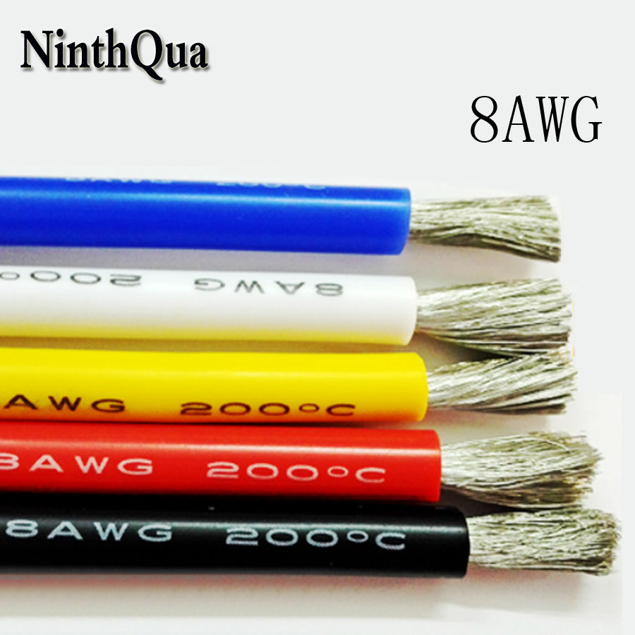 8AWG Silicone Wire Ultra Flexiable Cable 8.2mm2 High Temperature Test Line Wire