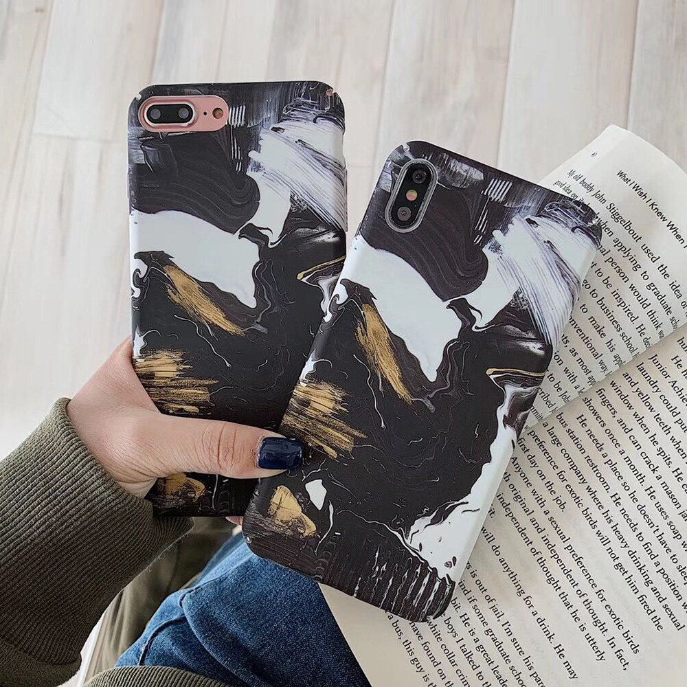 KIPX1093_3_JONSNOW Marble Pattern Phone Case for iPhone XS XR XS Max 7 8 Plus 6S 6 Plus Case Fashion All-inclusive PC Hard Back Cover Capa Fundas
