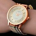 2016 Nova Marca genebra relógio de pulso das mulheres relógios Das Mulheres de quartzo-relógio relógio relógio de moda relógio de quartzo das senhoras do desenhador da Manta de Couro
