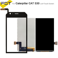 Black For Caterpillar CAT S30 LCD Display+Touch Screen Digitizer For Cat S30 Screen Lcd Mobile Phone Accessories|Mobile Phone LCD Screens|   -
