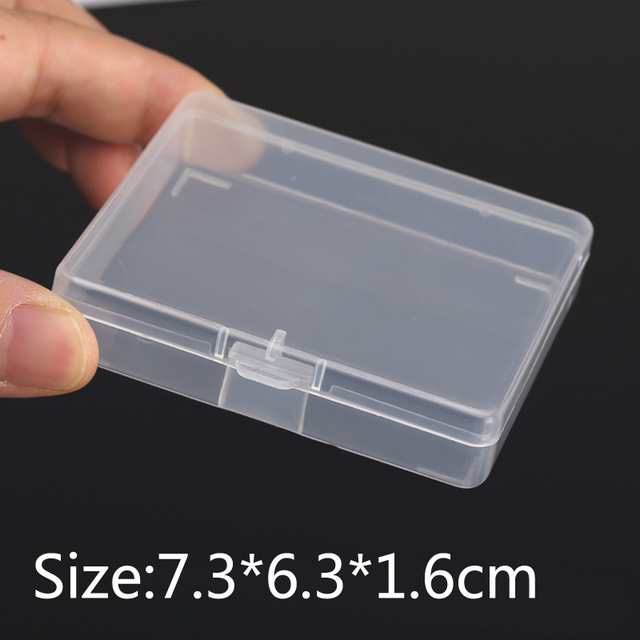 Thick Transparent small square plastic boxes with Lid Packaging