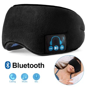 Image 1 - JINSERTA Wireless Bluetooth 5.0 Stereo Earphone Soft Washable Sleeping Eye Mask Headset Music Player with Mic Support Handsfree