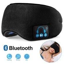 JINSERTA sans fil Bluetooth 5.0 écouteur stéréo doux lavable masque pour les yeux de sommeil casque lecteur de musique avec Support micro mains libres