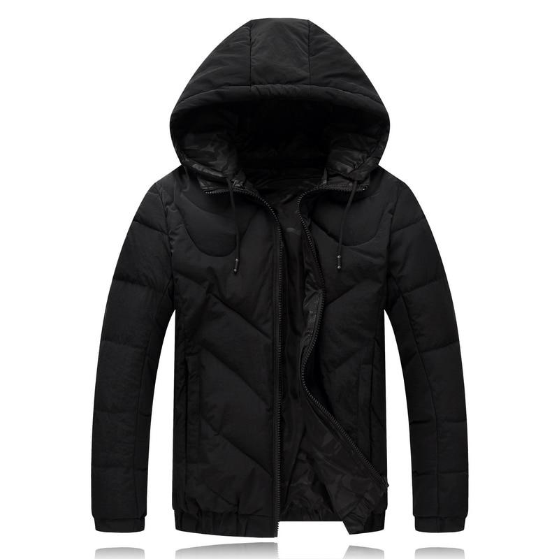 Erkek Kıyafeti'ten Parkalar'de 4XL 9XL Kış Ceket Erkekler Çift Yan Aşınma Siyah Erkek Ceket Aşağı Ceket Aşağı Parkas Kapşonlu Rüzgarlık Kar Soğuk Ceket 8001'da  Grup 1