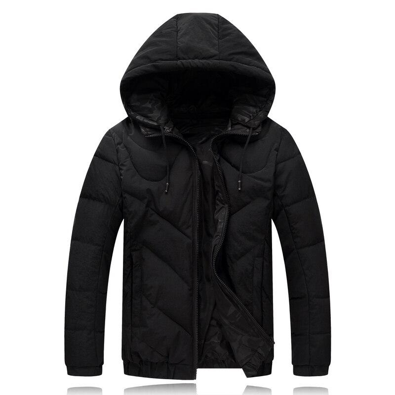 4XL-9XL Winter Jacket Men Double Side Wear Black Male Coat Cheap Down Jacket Parkas Hooded Windbreaker Snow Cold Jacket 8001