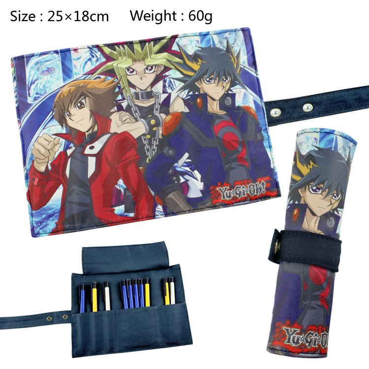 Yu Gi Oh Roll Up Pencil Case Students Stationery Case 25*18cm #107 Make Up Bag Kids Gift