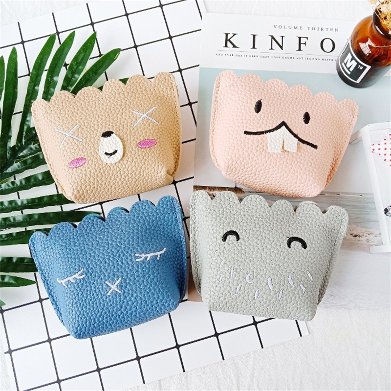Pu Personality Zipper Lace Coin Change Small Wallet Hot Sale Mini Cute Animal Key Case Multi-color Optional Clutch Card Package