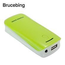 цена на Portable LED USB 5V 5600 mah 2x 18650 Power Bank Box Case Kit DIY Cell External Battery Charger Backup Shell for Mobile Phone#1