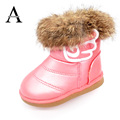 Aercourm A Girls Winter Shoes Baby Boots 2017 Rabbit Boots Pu Leather Baby Shoes Snow Kids Boots Colorful Girls Warm Shoes 21-30