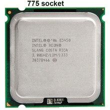 INTEL XONE E5450 cpu intel E5450 процессора quad core 4 core 3.0 МГЦ LeveL2 12 М Работы на 775 материнская плата