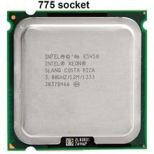 INTEL XONE E5450 cpu intel E5450 processor quad core 4 core 3.0MHZ LeveL2 12M  Work on 775 motherboard