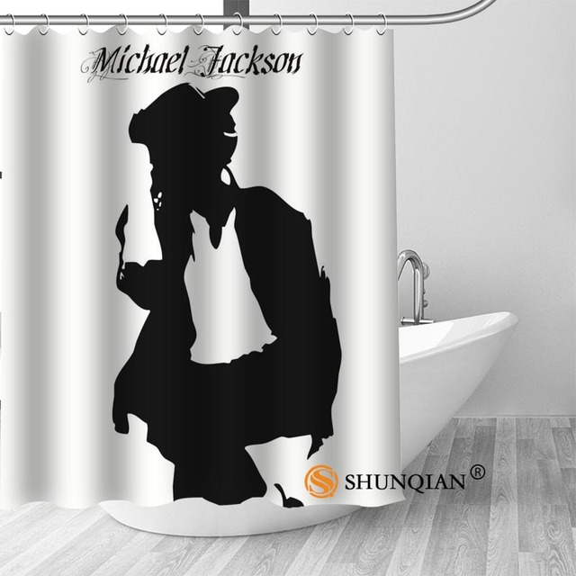 22 Michael jackson shower curtain washable thickened 5c64f7a44eda9