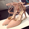 Free shipping new spring and summer shallow mouth pointed shoes sandals fine with the Roman shoes